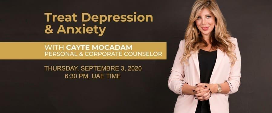 Treat Anxiety & Depression - Cayte Mocadam events